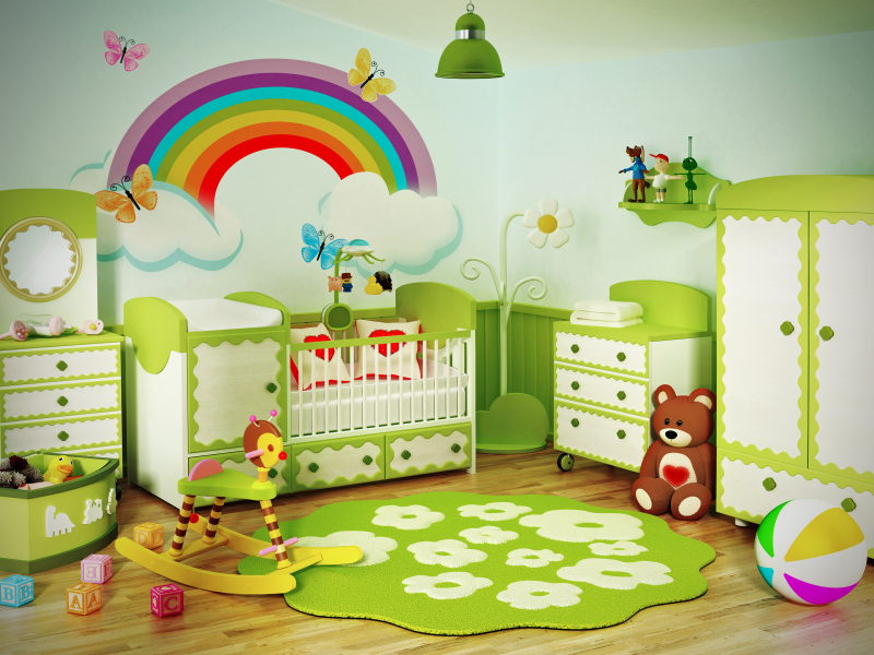 wandgestaltung im babyzimmer style your castle. Black Bedroom Furniture Sets. Home Design Ideas